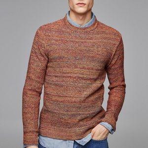 Zara men colored twisted yarn sweater